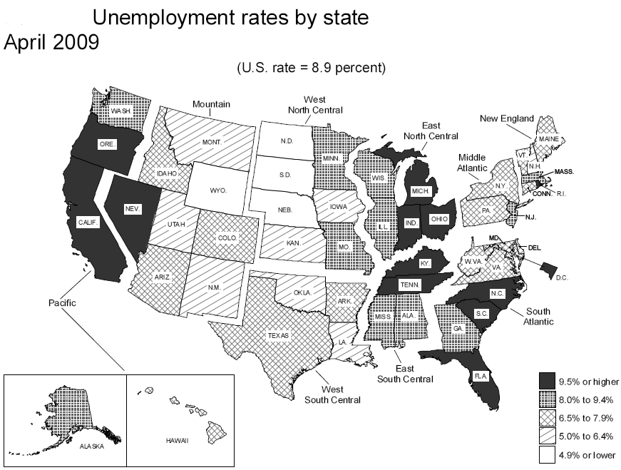 unemployment rates by state map Unemployment Map Work Exposed The Blog