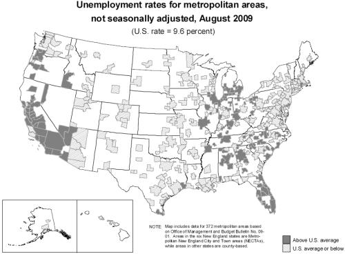 Metro Unemployment Aug 2009