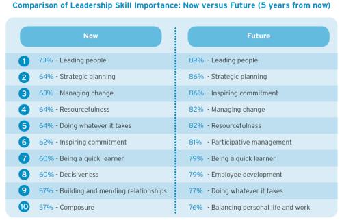 Leadership skills chart